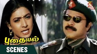 Puthaiyal Tamil Movie Scenes , Arvind Swamy Meets Mammootty , Arvind Swamy , Thamizh Padam