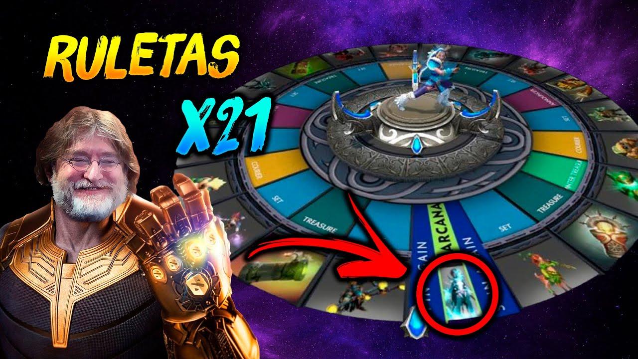 RECLAMANDO 21 RULETAS !!! ► Battle Pass 2020 😍 | Dota 2