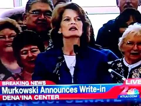 Lisa Murkowski - Announcement of write-in campaign - September 17, 2010