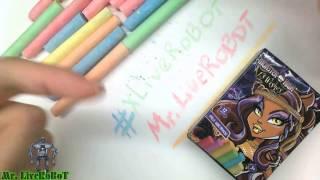 Mr. LiveRoBoT - Распаковка и Обзор =MONSTER HIGH= 13 Wishes Мел Школьный Цветной 12 Штук/Цветов [3+]