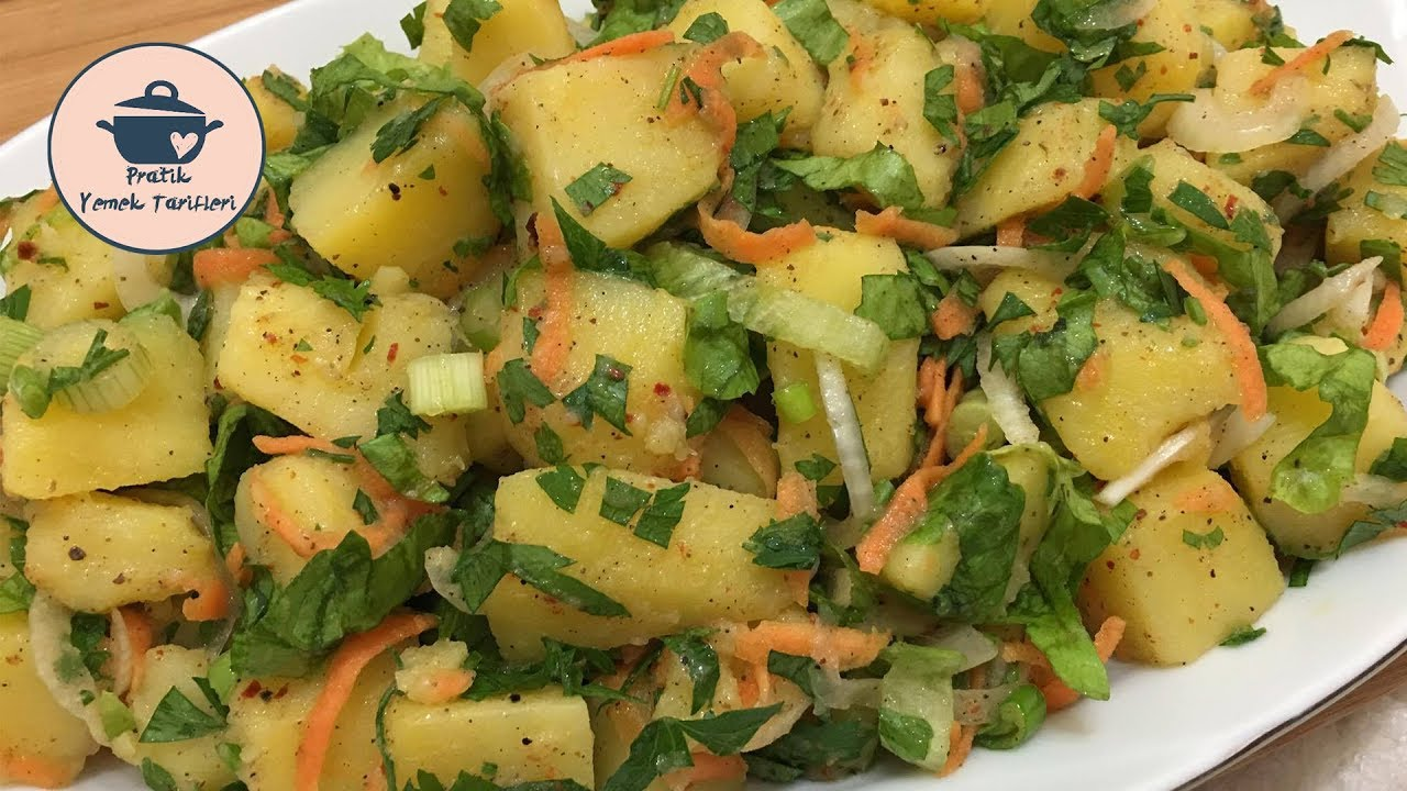 Patates Salatası Tarifi | 2 Dk'da Patates Salatası Nasıl Yapılır?