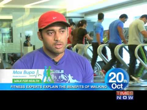 Max Bupa Walk for Health :  Fitness experts on walking