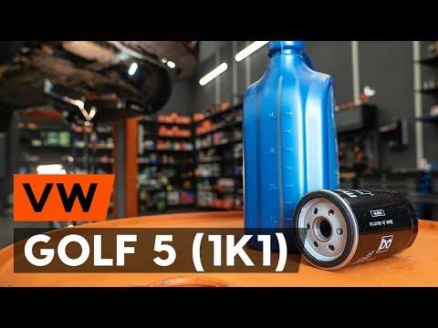 Как заменить моторное масло и масляный фильтр на VW GOLF 5 (1K1) [ВИДЕОУРОК AUTODOC]