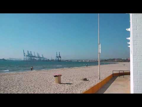 View on Gibraltar from Algeciras beach hotel