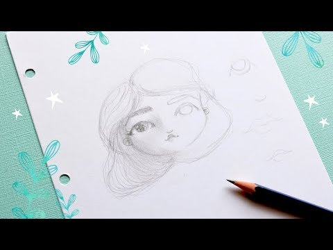Tutorial Dibujo: CÓMO DIBUJAR CARAS Para Art Journal, Mixed Media E Ilustraciones