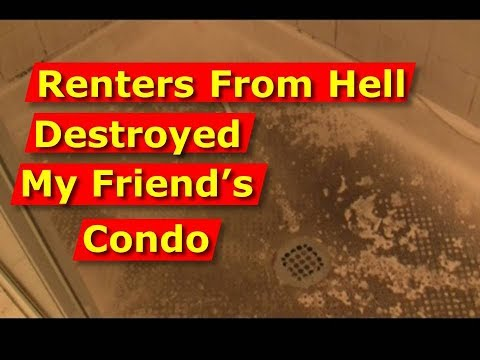 Tenants From Hell Damaged Friend's Condo Like Section 8 Renters. Damage, Lies