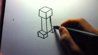 How to Draw: Minecraft Creeper