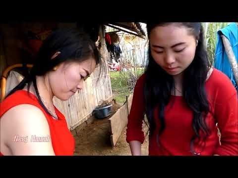 traditional Lao food_girl cooking food_how to cook  food in Laos#01