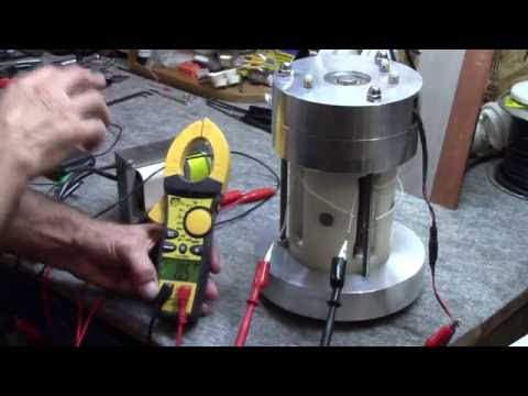 Gerard Morin: Demonstration of a High frequency Generator that is Iron Free with Massive Volt output