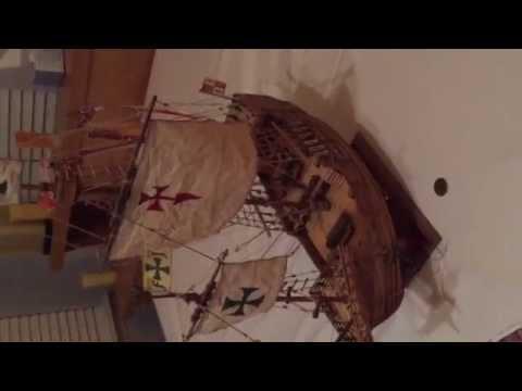 How to build a model ship Santa Maria Spanish armada ...