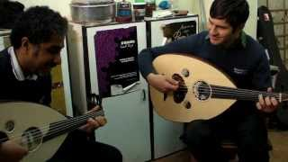 fadel and ilias playing arabic ouds f tuning and c made by d.rapakousios