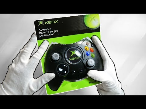 "LEGENDARY XBOX ""THE DUKE"" CONTROLLER! Unboxing Original First Microsoft Xbox Gamepad"