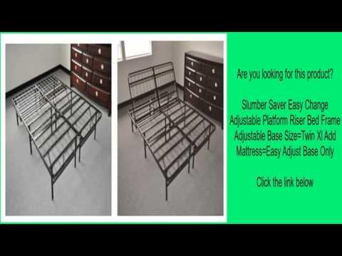 Slumber Saver Easy Change Adjustable Platform Riser Bed Frame Adjustable Base Size=Twin Xl