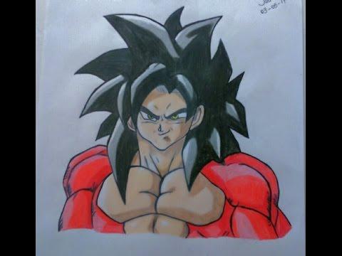Como Desenhar Goku Ssj4 Joas Arte Youtube