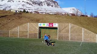Football facilities in the small town Reydarfjordur, East Iceland