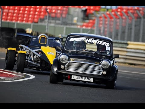 Classic Mini B18 Type R VTEC Croft Circuit Trackday (Raw Footage)
