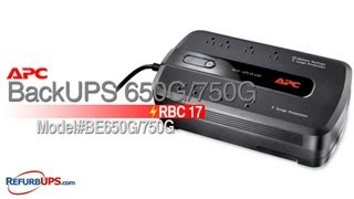 RBC17 Battery Replacement for BackUPS 650G/750G
