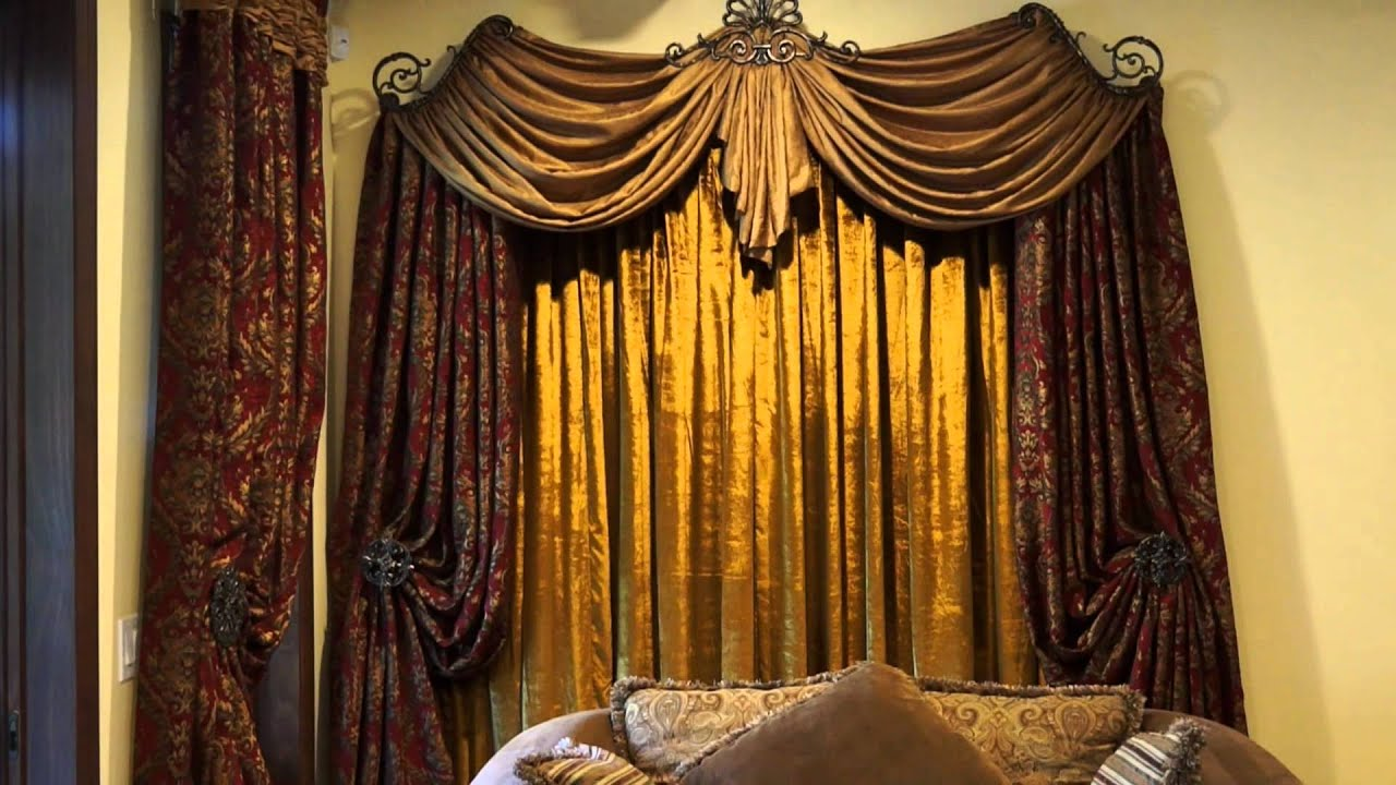 using historic design fabric drapes custom to springfield curtain home installed patterned how curtains
