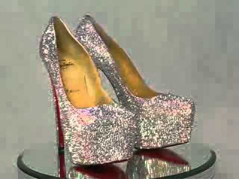 265c68cc3b0 Christian Louboutin Daffodil Swarovski Crystal Shoes - YouTube