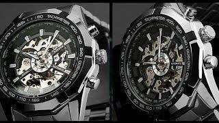 Посылки с Aliexpress: распаковка и обзор мужских часов Winner Skeleton