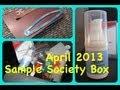 ❧❦ Sample Society Box April 2013 Allure Magazine Beauty Bar ❦❧