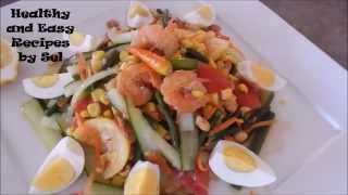 Corn And Cucumber Salad Recipe ( Light And Healthy Delicious Recipe And Easy To Pare )