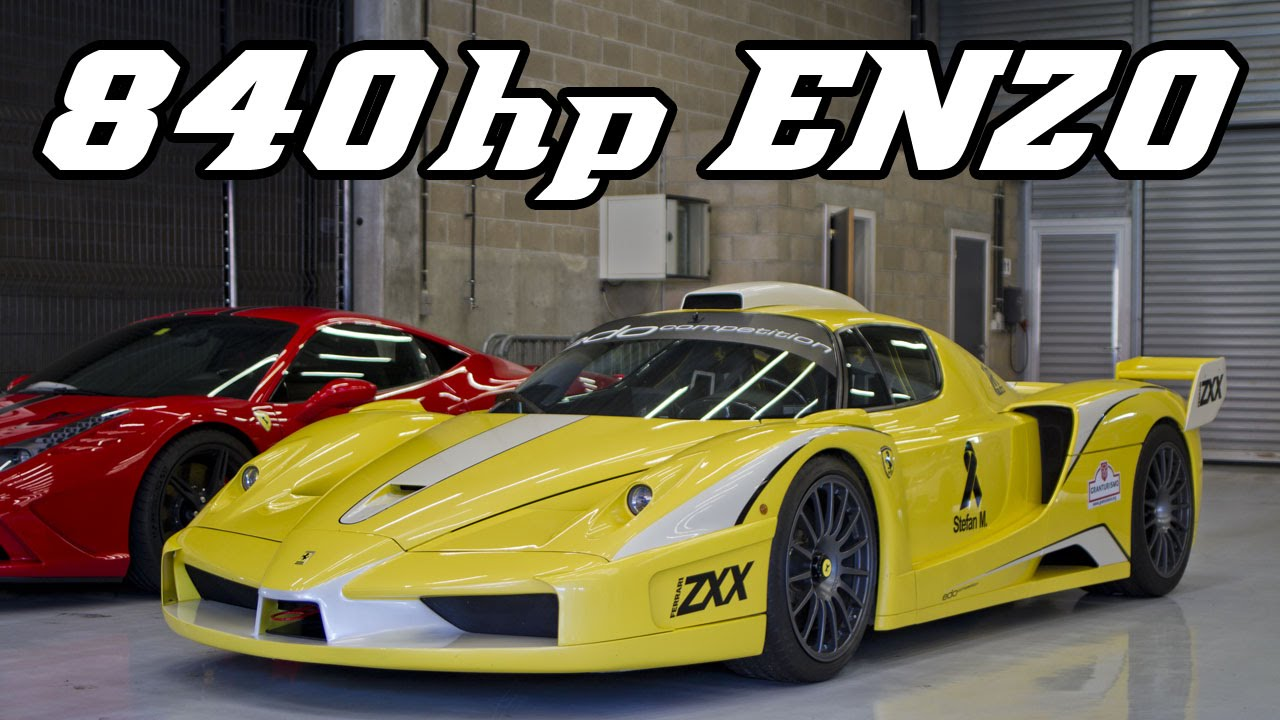 840hp Ferrari Enzo XX Evolution (ZXX) full throttle and revving at