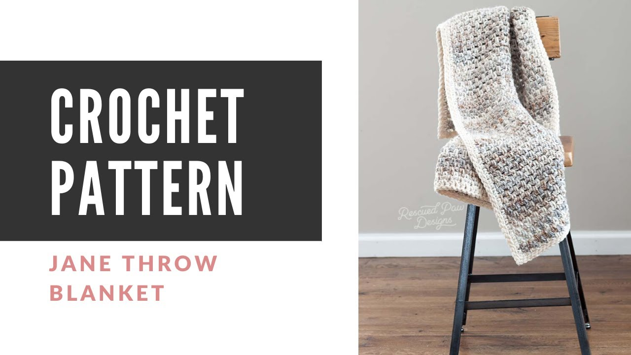 Free Crochet Throw Blanket Pattern Rescued Paw Designs