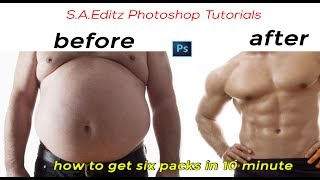 photoshop tutorials   how to retouch six packs just in 10 minutes
