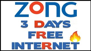Zong 3 Days Free Internet New Zong Free Trail Offer