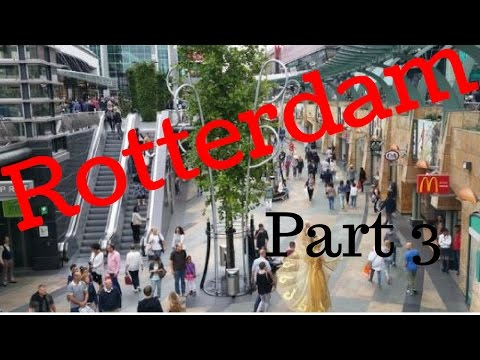 Rotterdam, The Netherlands.City Tour (Part3/12) Van Oldebarneveltsplaats/Beurstraverse (Koopgoot) 4K