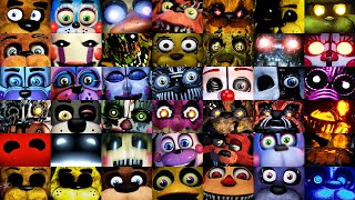 All FNAF JUMPSCARES in 7 Minutes! (2014-2019 Final) FNAF 1, 2, 3, 4, SL, 6, UCN, VR, AR, CoD