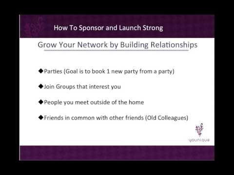 How To Sponsor 5 a month and Launch Presenters Strong Younique