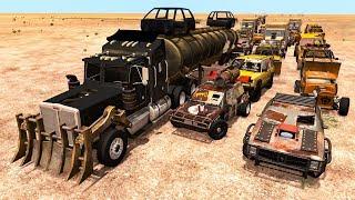 Beamng drive - Bandits Chases vs. Truckers crashes #3