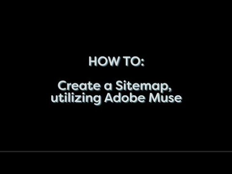 how to make a site map in adobe muse youtube