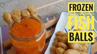 Frozen Fish balls   How to make Fish balls   Fish ball with Sweet and Sour Sauce  (Fish recipe)