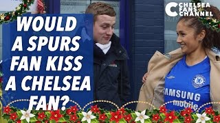 Would A Spurs Fan Kiss A Chelsea Fan? | Sophie Tests Tottenham In Mistletoe Challenge Sequel