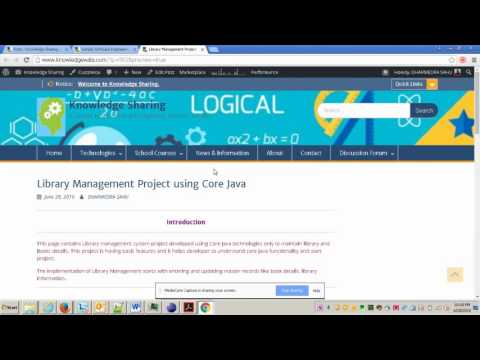 Library Management Application Using Core Java