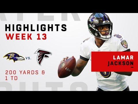 Lamar Jackson Highlights vs. Falcons