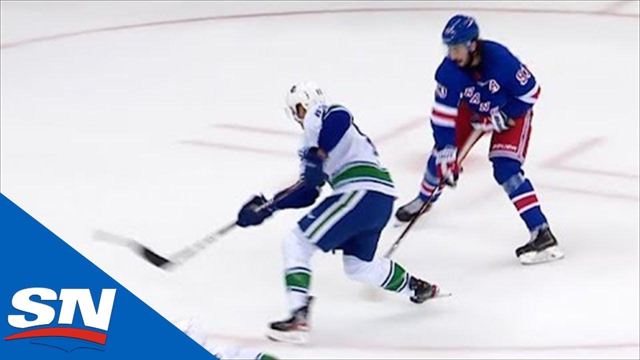 Jay Beagle Fights Off Mika Zibanejed To Score Short-handed On Henrik Lundqvist