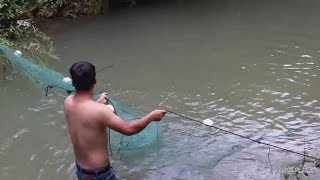 The guy caught the fish with new tricks