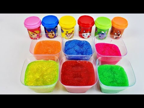 Making 6 Colors with Toys & Coloring Glitter Paw Patrol Aprende Los Colores