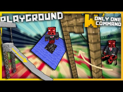 Minecraft - Playground Items with only one command block (Swings, slides and trampolines)