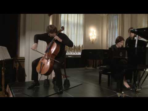 Fedor Amosov (cello) English Hall of St. Petersburg Music House 2014-08-20 Part 1