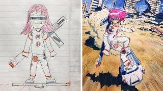 Oğlunun Çizimlerini Anime Karakterlerine Dönüştüren Harika Baba - PART 2 (ÇEKİLİŞ SONA ERDİ)