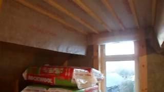 утепление крыши видео