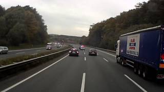 polizei macht die autobahn dicht