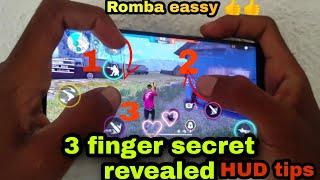 Free fire 3 finger best custom HUD secret tips relieved /best custom HUD tips 3finger /free fire tip