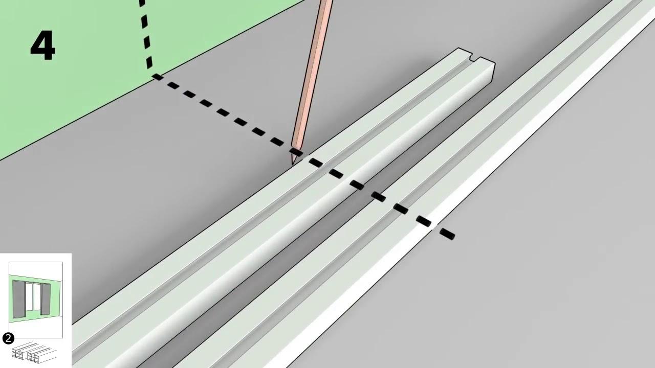 Comment Installer Panneau Japonais comment monter un rail pour rideau vidga?