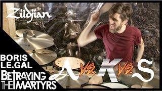 Boris Le Gal - BETRAYING THE MARTYRS : Comparatif de cymbales ZILDJIAN (vidéo de la boite noire)